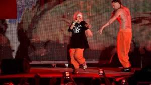 Jihoafričtí šílenci Die Antwoord rozbalili svou výstřední show ve Žlutých lázních