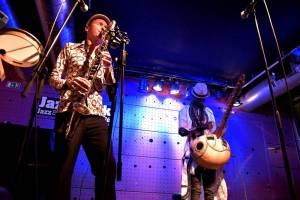 Moussa Cissokho - Jan Galega Bronnimann - Omri Hason African Project hráli v Jazz Docku