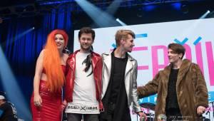 Pětadvacetinami Žebříku provedli Tomáš Hanák a Jitka Schneiderová, pro ceny si chodili i Anna K., Dymytry nebo Divokej Bill