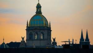Dan Bárta a En.Dru vítali na střeše Lucerny východ slunce