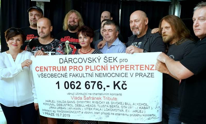 Vzpomínkový koncert na Vláďu Šafránka vydělal přes milion korun. Výtěžek byl věnován na léčbu plicní hypertenze