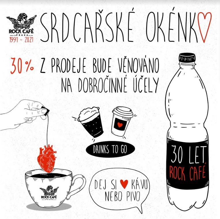 Rock Café pomáhá i nadále, v srdcařském okénku budou obsluhovat Šídlo nebo Fridrichová