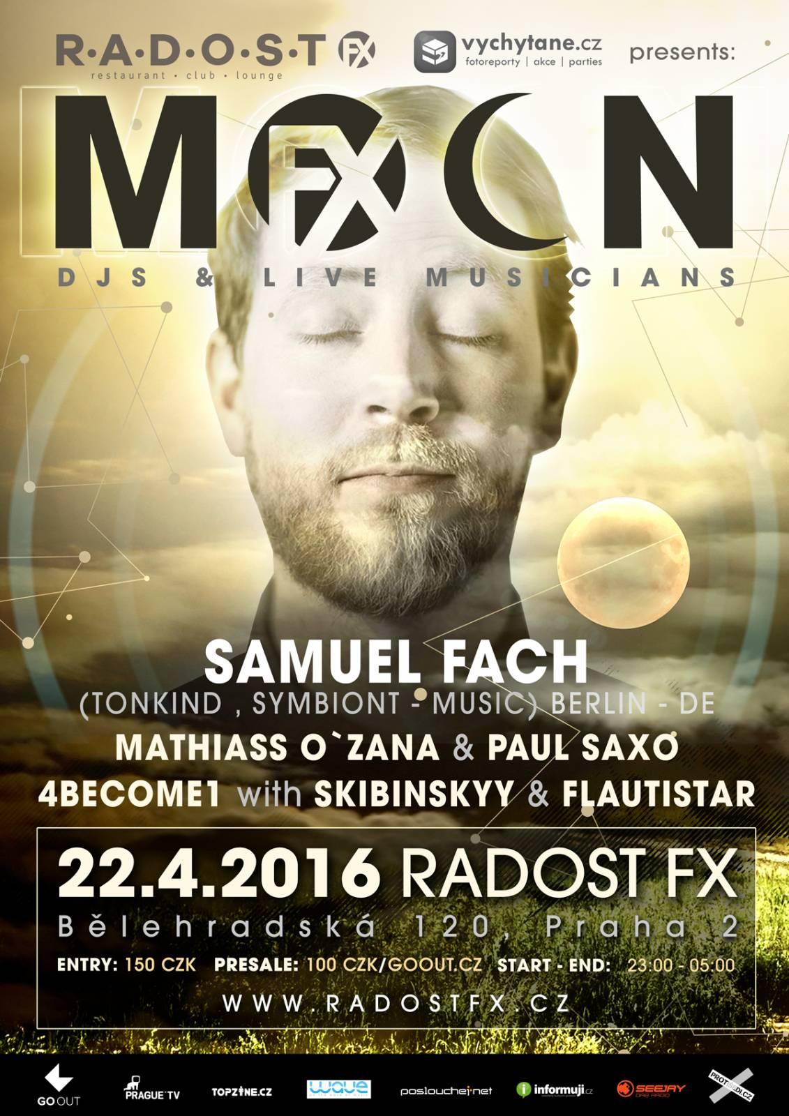 Samuel Fach  bude první zahraniční hvězdou party MoOn:FX v pražském klubu Radost FX