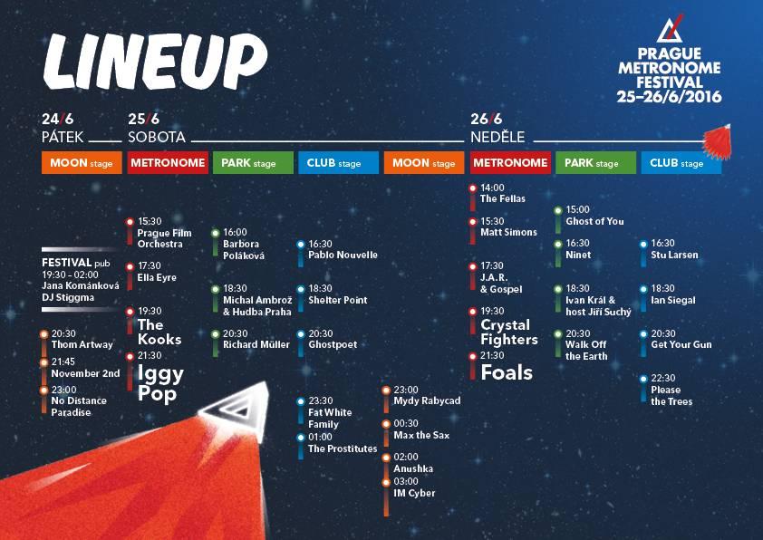 Metronome festival zveřejnil časový harmonogram! Kdy vystoupí Iggy Pop, Foals nebo Ella Eyre?