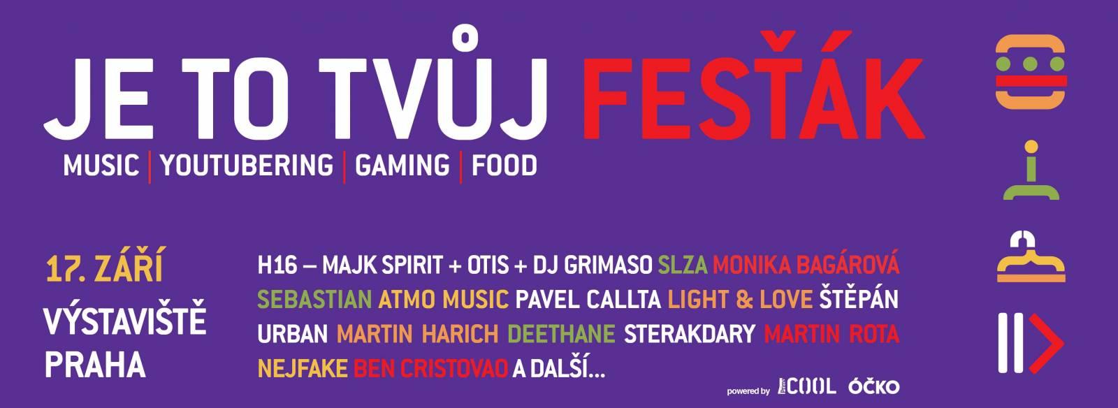 Užijte si babí léto: Na pražský Vodafone You Fest míří Majk Spirit, Sebastian i YouTubeři