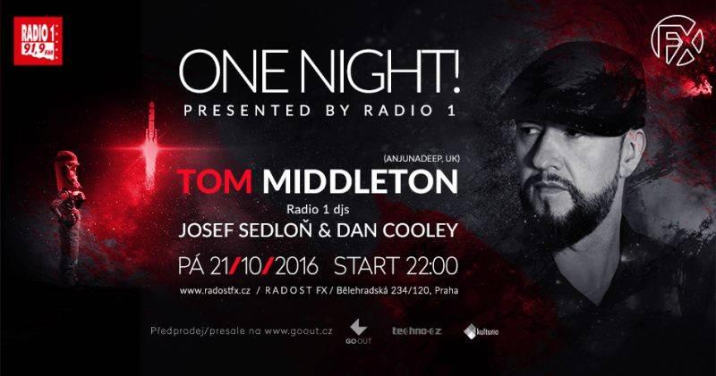Říjnová One Night! v Radosti FX uvede Toma Middletona