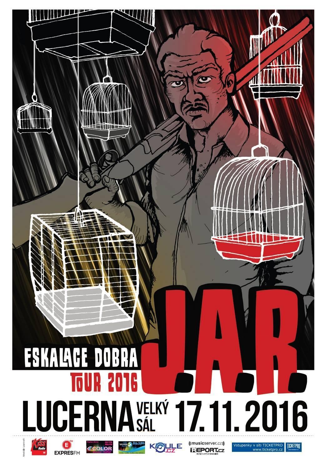 J.A.R. vydají nové album Eskalace dobra. Turné k němu završí v Lucerně