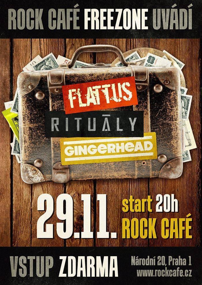 Rituály zahájili podzimní turné, do party přibrali Gingerhead a Flattus