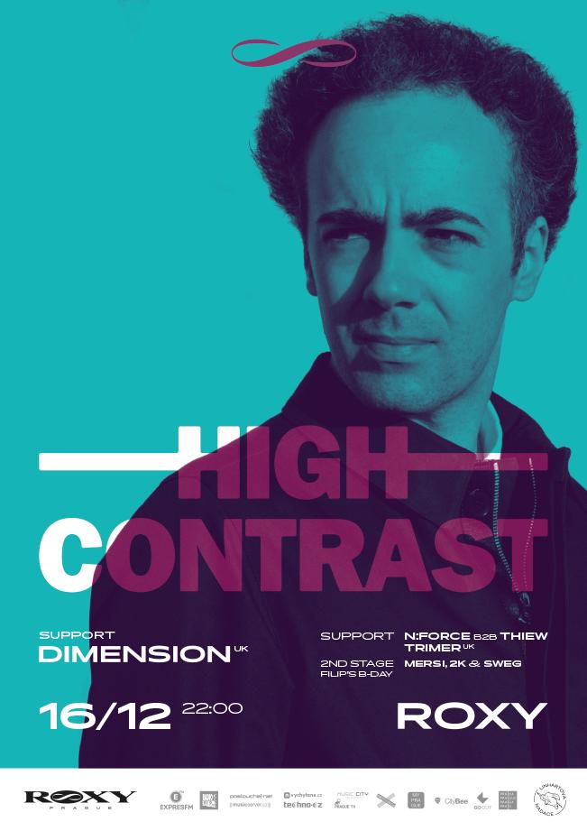 Drum'n'bassová legenda High Contrast představí v pátek v Roxy své novinky