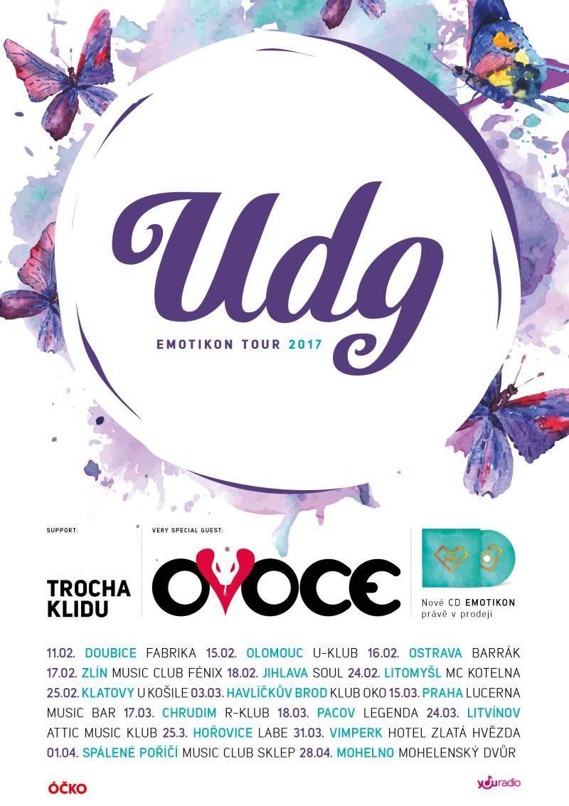 UDG chystají dva klipy a vyjíždějí na Emotikon tour, pojede s nimi OVOCE