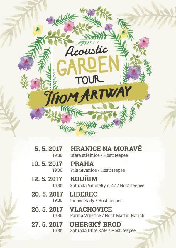 Thom Artway zahraje v květnu v zahradách, na turné s ním vyrazí Teepee