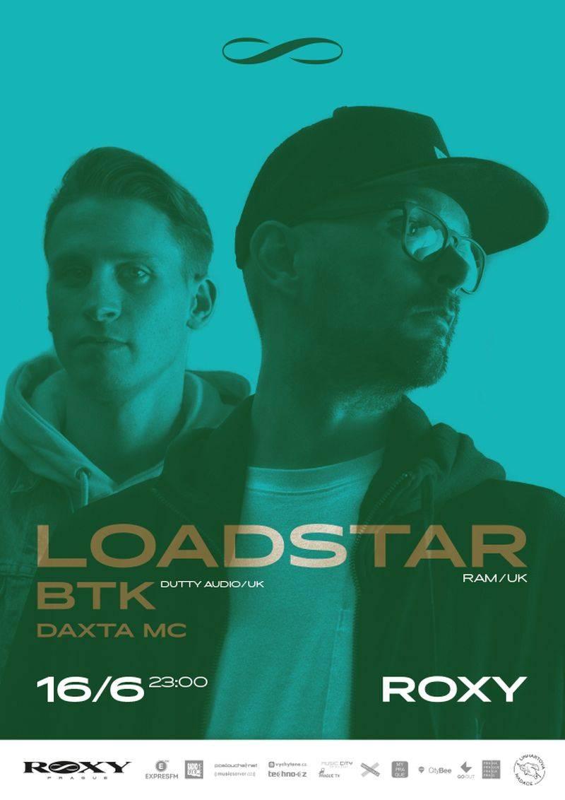 V červnu ovládne Roxy d'n'b: Loadstar a BTK budou hvězdy noci