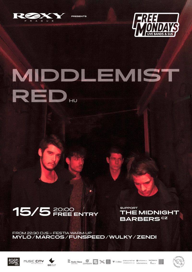 Free Mondays v Roxy budou v květnu multižánrové. Vystoupí James And The Butcher, Middlemist Red nebo The Micronaut