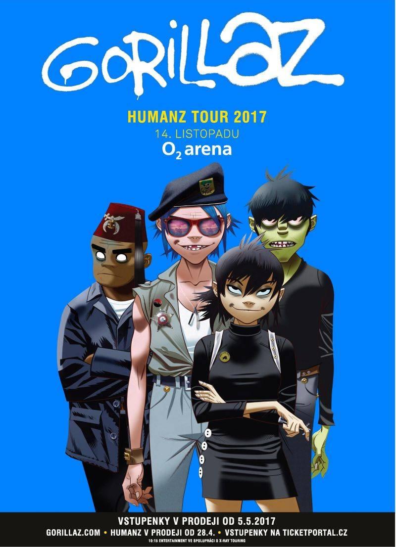 Gorillaz představí nové album Humanz v Praze! V O2 areně vystoupí v listopadu