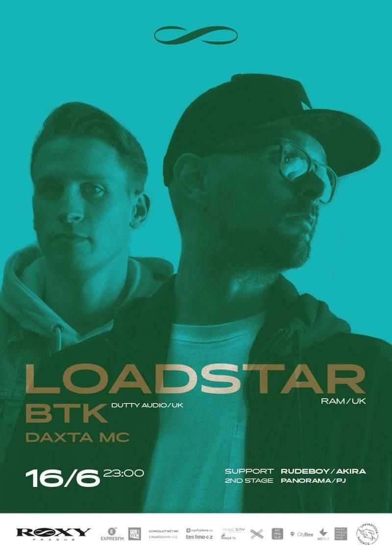 Poslední předprázdninový drum'n'bassový večírek v Roxy zařídí Loadstar a BTK