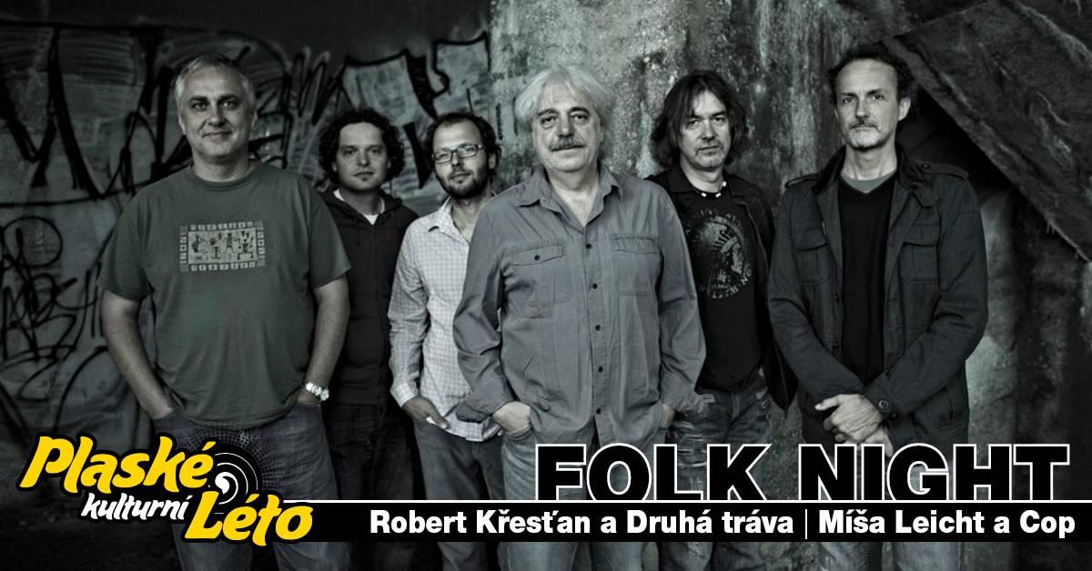 Robert Křesťan, Míša Leicht a COP a Jan Vytásek vystoupí na Folkovém večeru v Plasích