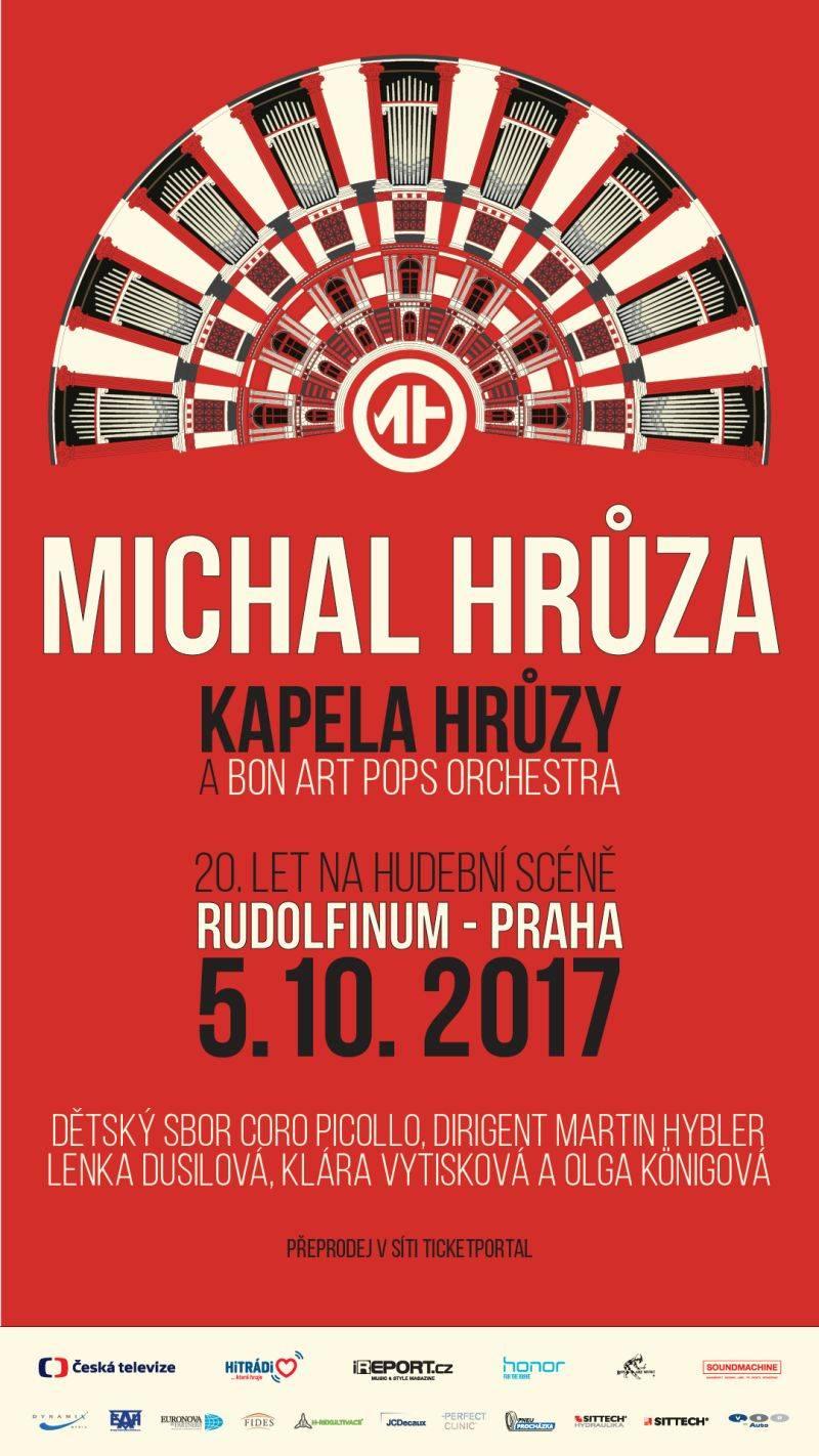 Michal Hrůza oslaví v Rudolfinu 20 let na scéně. Vystoupí se symfonickým orchestrem