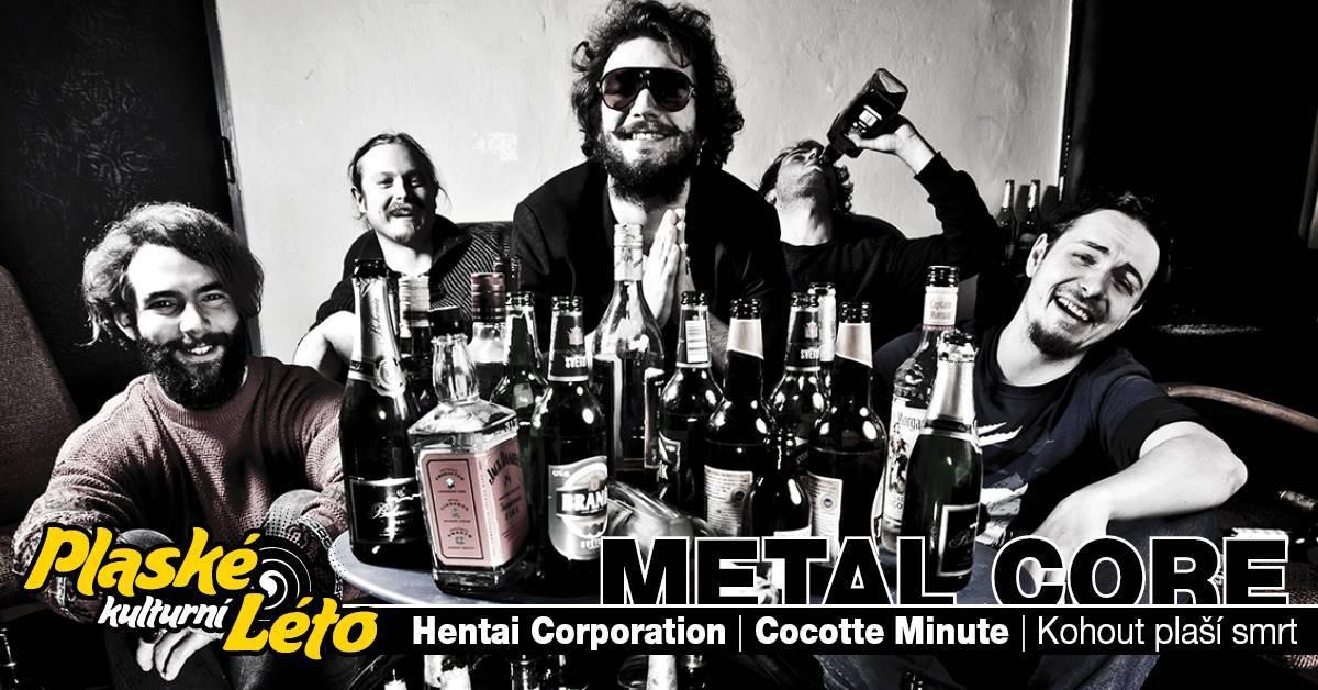 Plasy zažijí Metal Core Night, vystoupí Hentai Corporation, Cocotte Minute i Kohout plaší smrt