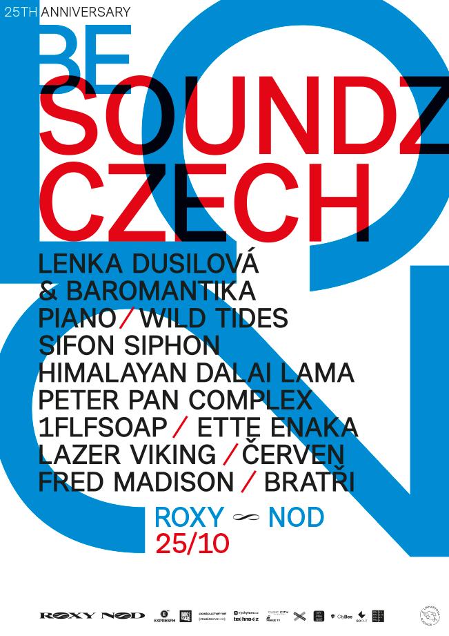 Narozeniny Roxy pokračují, v rámci Soundz Czech vystoupí Lenka Dusilová,  Lazer Viking nebo Peter Pan Complex