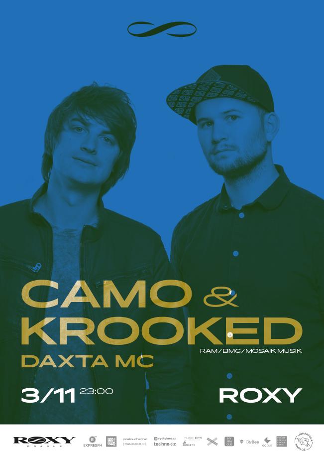 Páteční drum'n'bassovou party v Roxy obstarají Camo And Krooked
