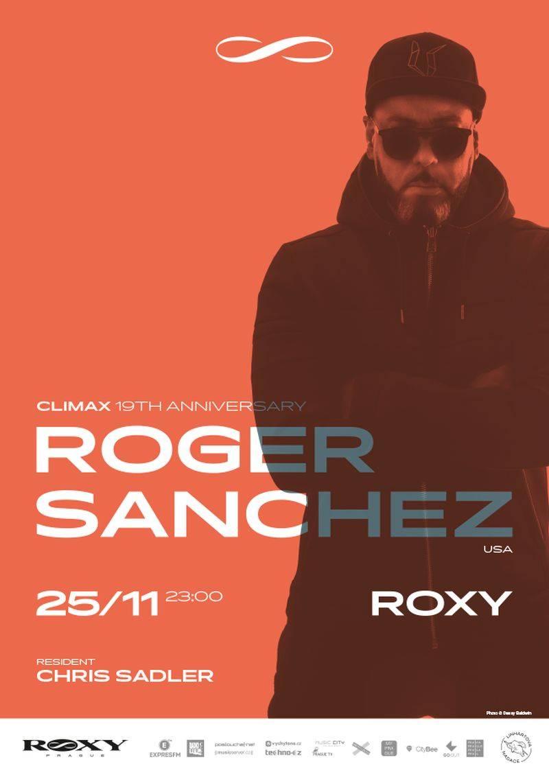 Roger Sanchez bude hostem narozenin Climaxu v Roxy