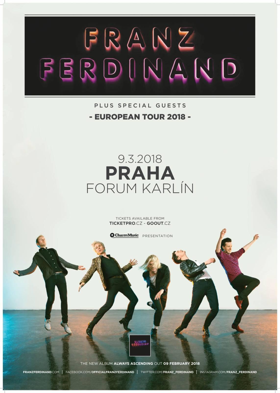Předkapelou Franz Ferdinand budou ve Foru Karlín Th!s i s Vojtou Kotkem