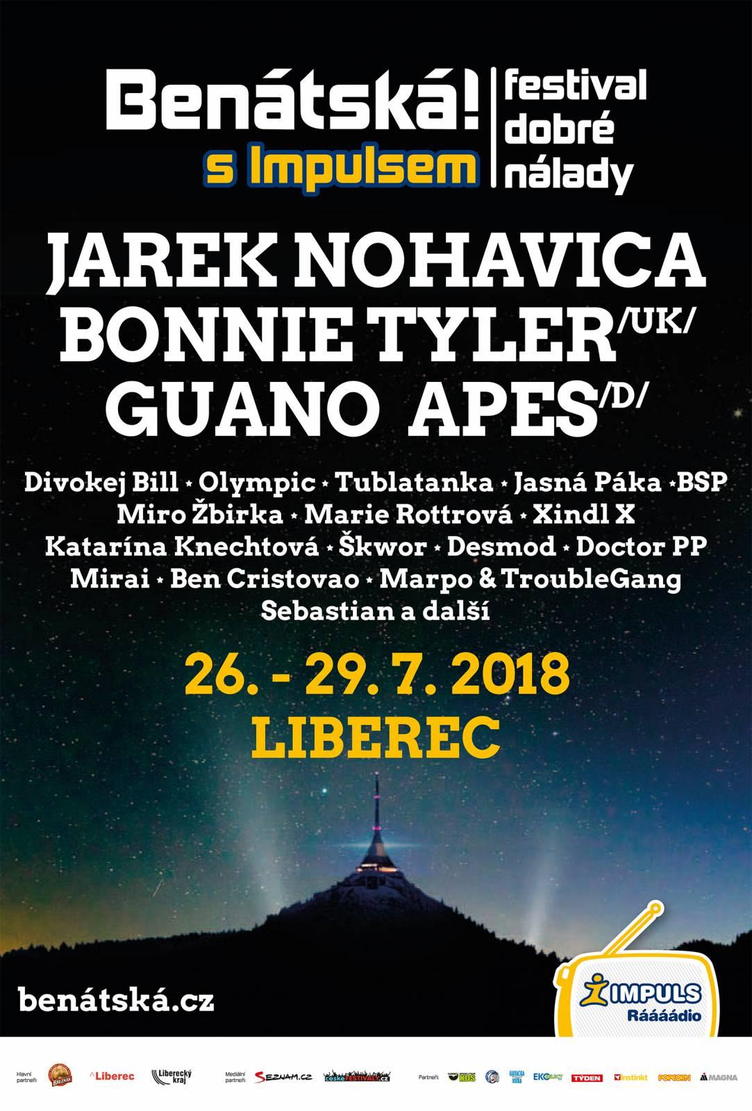 Benátská! s Impulsem nabídne jediný letošní open air Jaromíra Nohavici