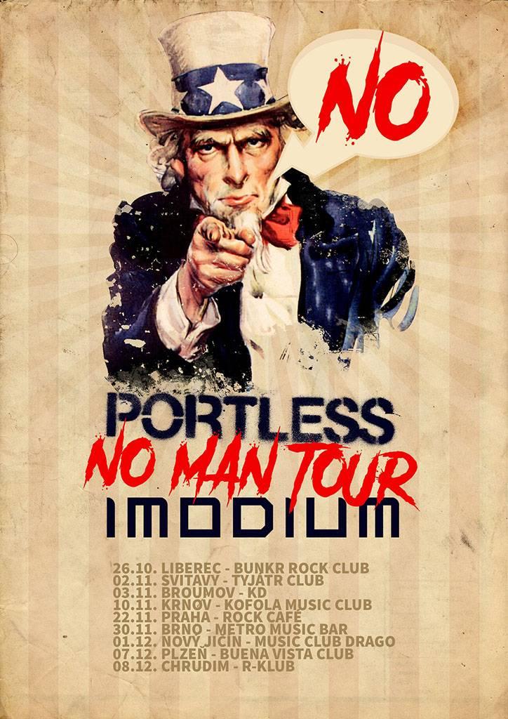 Imodium a Portless vyrazí na společné podzimní No Man Tour