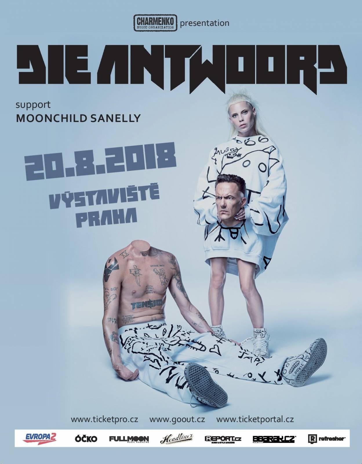Koncert jihoafrických provokatérů Die Antwoord otevře na Výstavišti rapper Smack