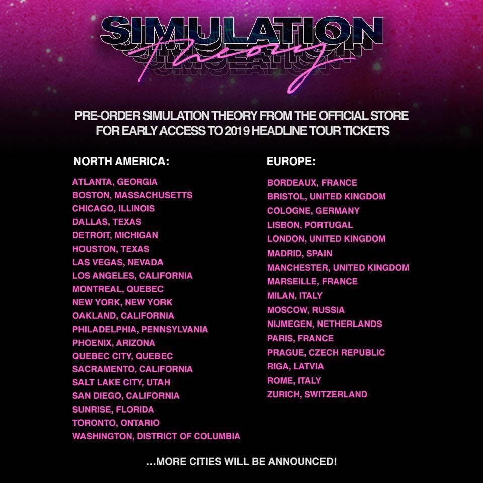 Muse se s novým albem Simulation Theory vrátí do Prahy!