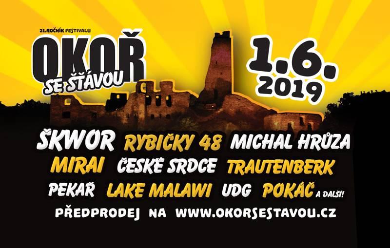 Okoř se šťávou láká na Škwor, Mirai, Rybičky 48 i Michala Hrůzu