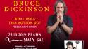 Zpěvák Iron Maiden Bruce Dickinson bude mít v Praze dost netradiční vystoupení. Večer mluveného slova