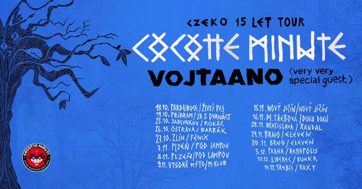 Cocotte Minute vyráží na podzimní turné s názvem Czeko 15 let tour