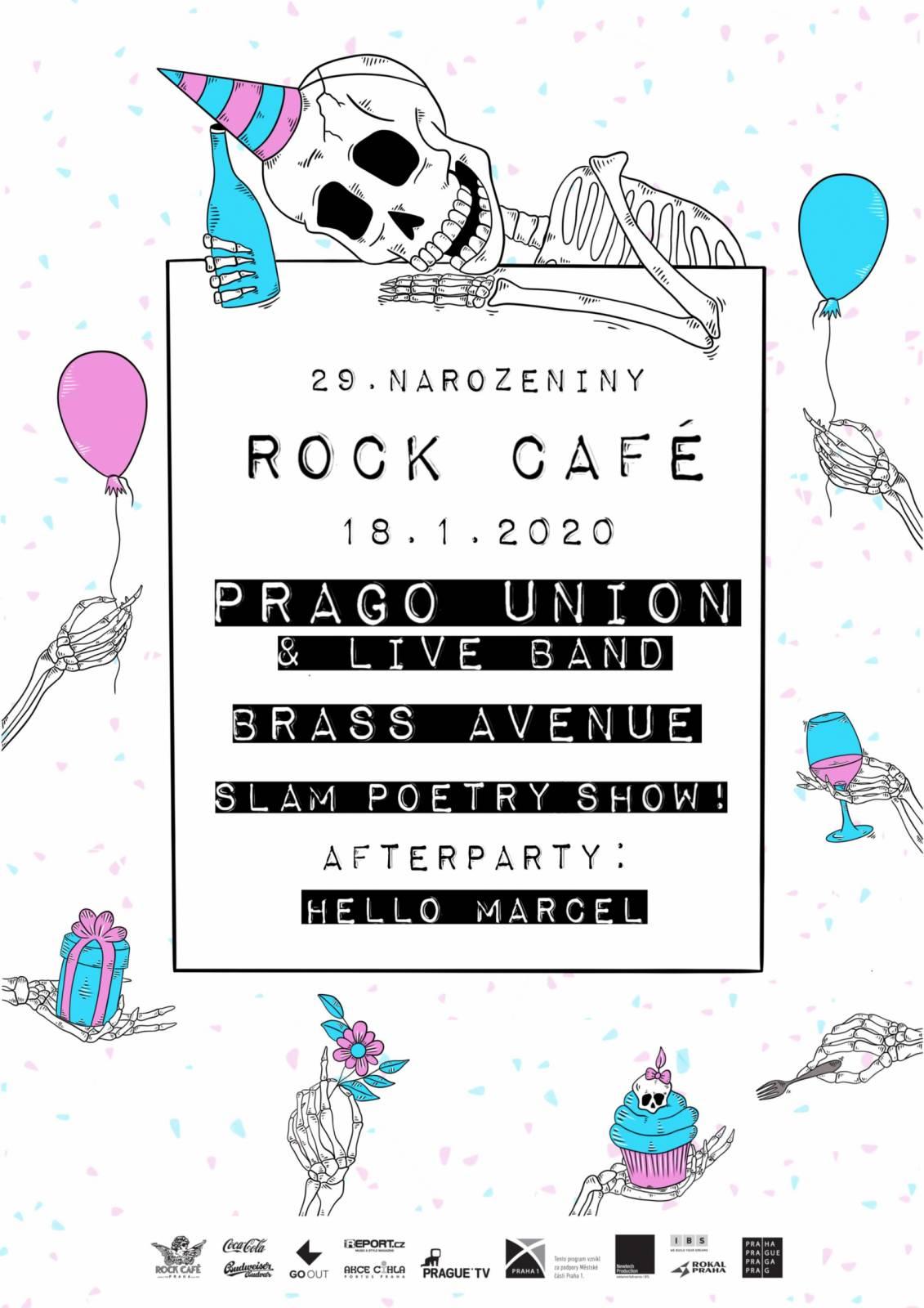 Rock Café oslaví své 29. narozeniny společně s Prago Union
