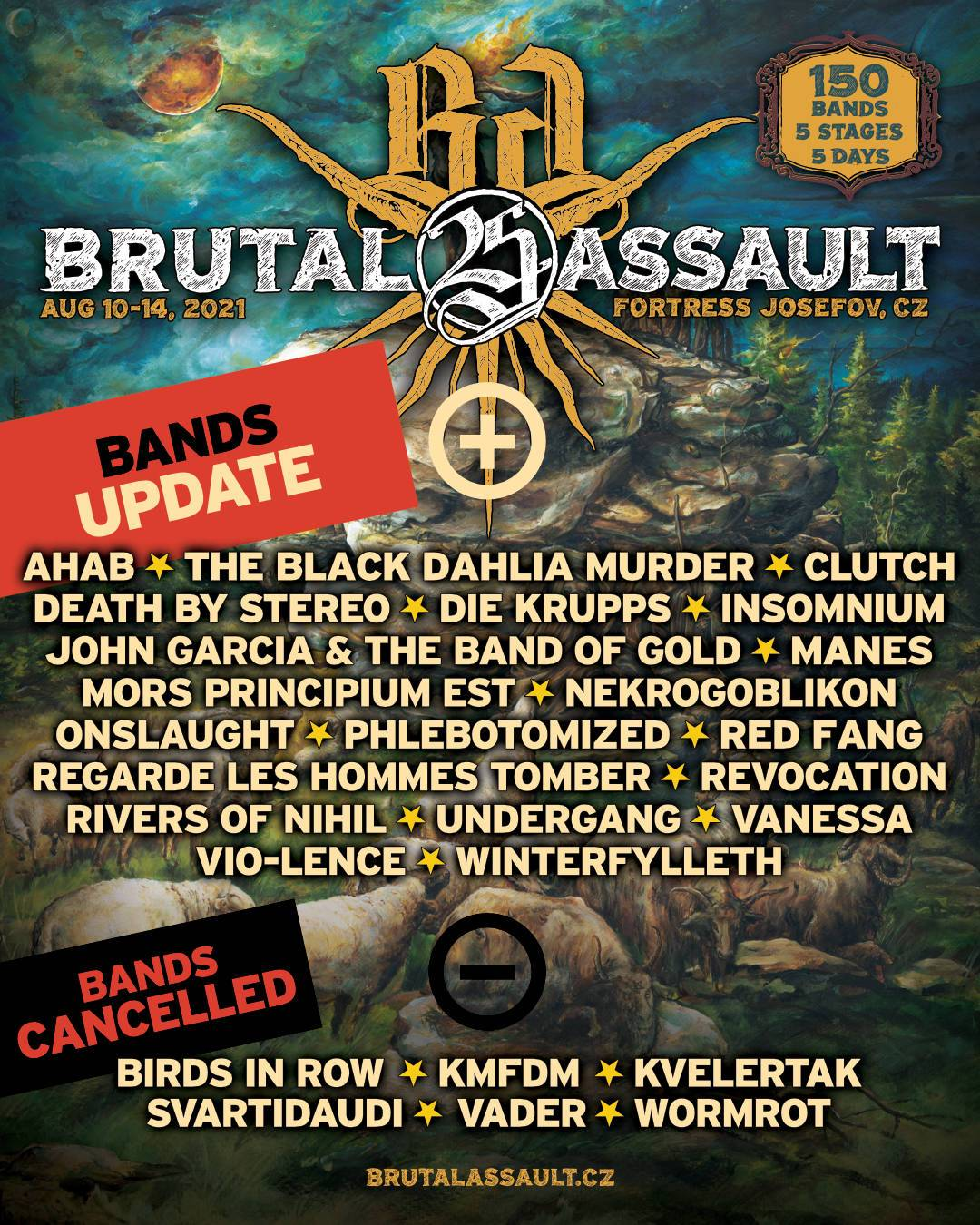 Brutal Assault zná jména dalších vystupujících, na festivalu zahrají Vanessa, Insomnium nebo John Garcia