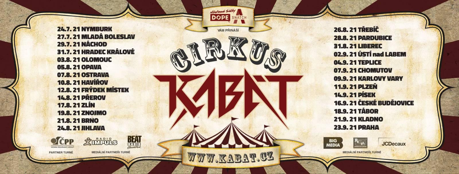 Kabát vyráží na turné Cirkus Kabát, původní šňůru opět překládá