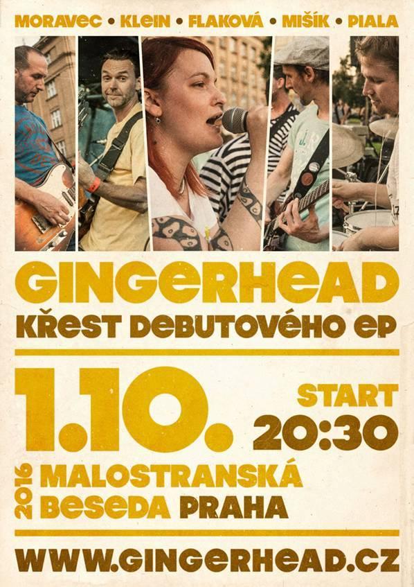 Gingerhead interview: Křest v Malostranské besedě bude naše pražská premiéra