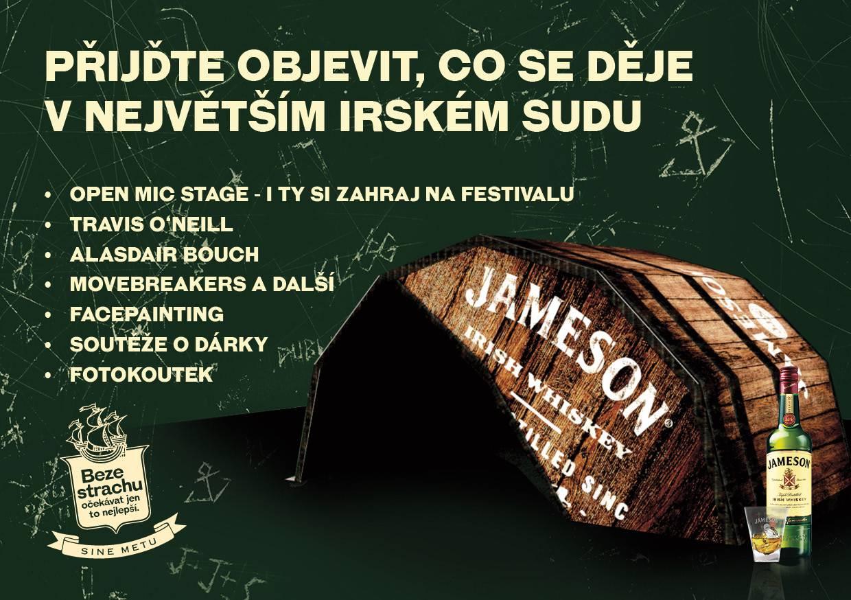 Jameson postaví na Mighty Sounds mobilní Irish Pub