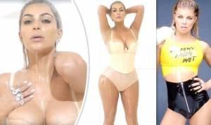VIDEO: Sex prodává! Fergie si přizvala Kim Kardashian a společně se koupou v mléce