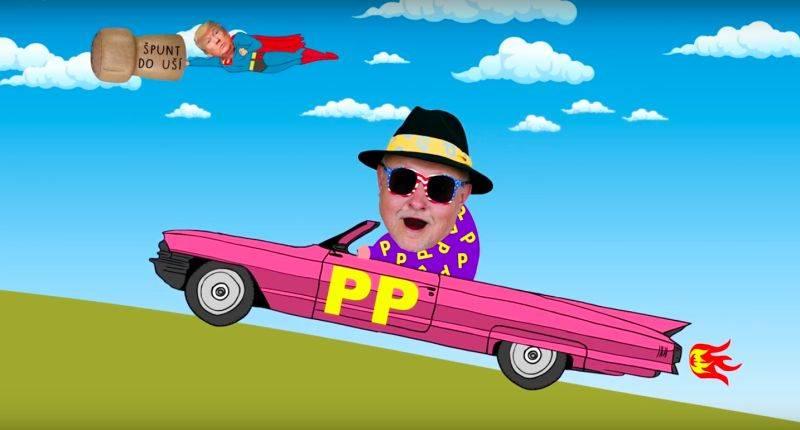 VIDEO: Doctor P.P. si v klipové road movie utahuje ze Zemana, Trumpa i Slavíka
