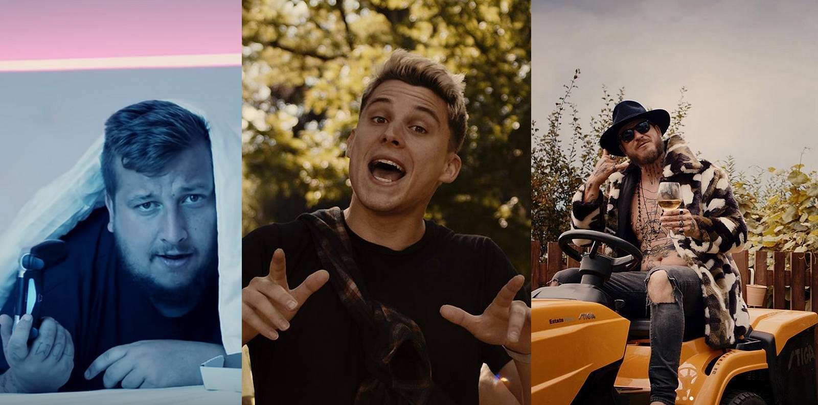 TOP 6 videoklipů týdne: Sebastian, Jakub Děkan a Kuba Ryba se mají fajn, Lucie Vondráčková nechce být pouhou ozdobou muže