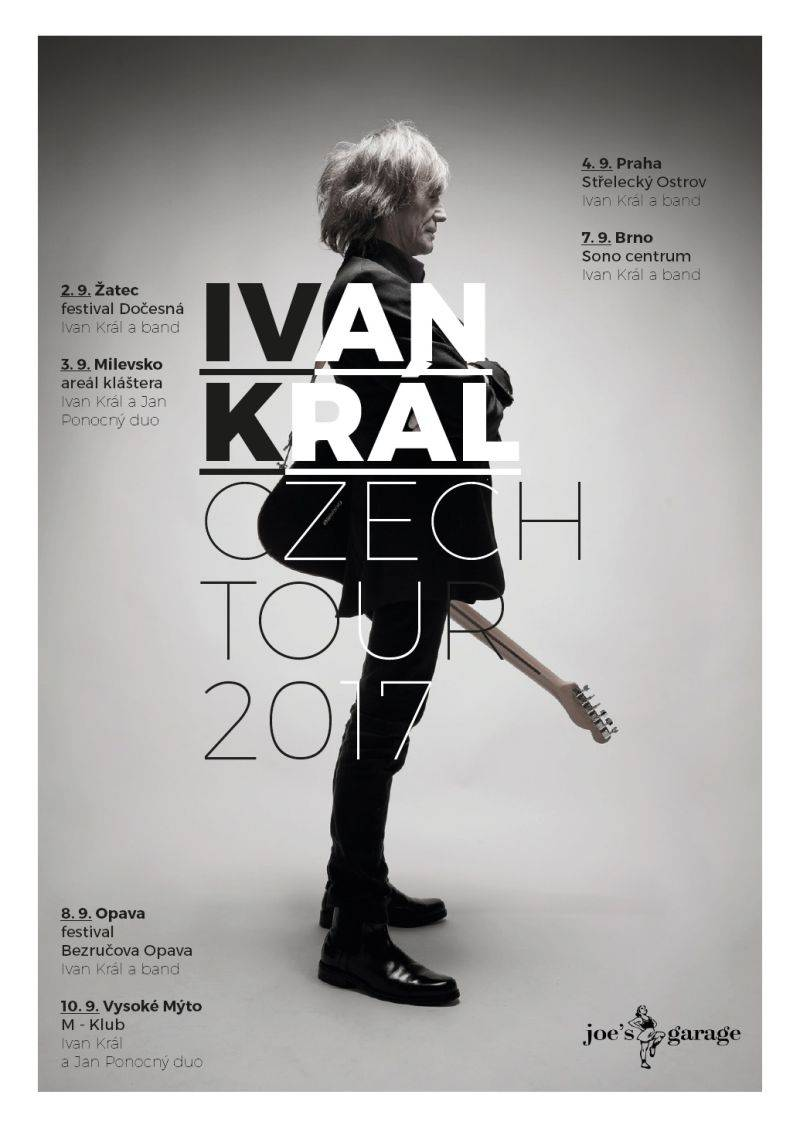 AUDIO: Ivan Král obklopen špinavým rockovým zvukem zve na české turné i k poslechu nové desky