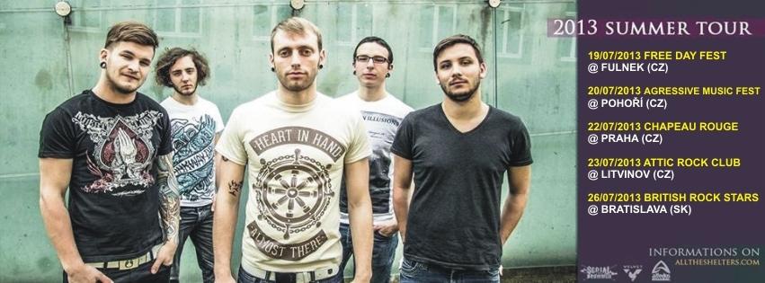 All the Shelters v Česku vypálí čtyři metalcoreové dávky