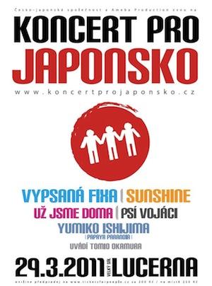 Vypsaná fiXa, Sunshine a Psí vojáci zahrají pro Japonsko