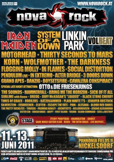 System of a Down a Iron Maiden zahrají na festivalu Nova Rock