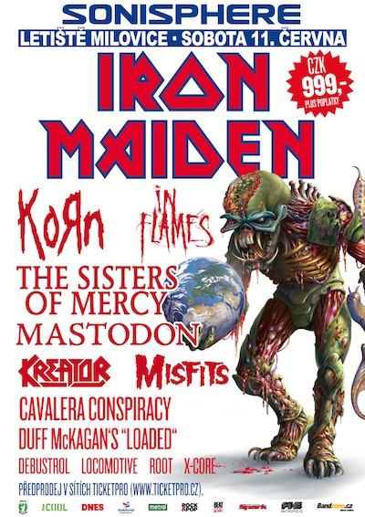 The Sisters Of Mercy doplní kapely Iron Maiden a Korn na festivalu Sonisphere