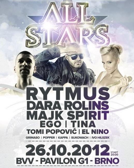 Rytmus, Dara, Ego, Majk Spirit, Tina a Tomi Popovič míří na party do Brna