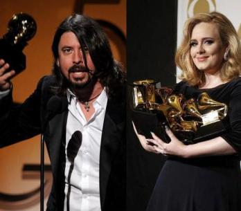 Adele má šest Grammy, Foo Fighters ji dohánějí s pěti