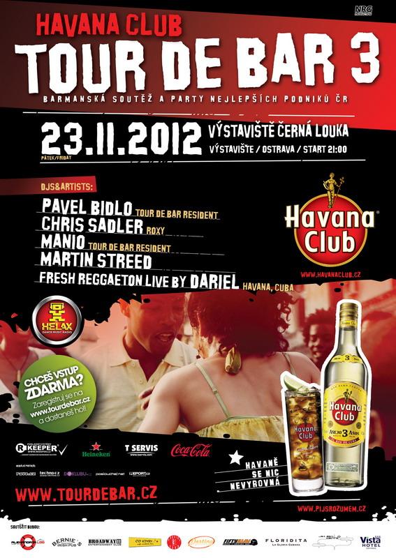 Barmanská show Havana Club Tour De Bar 3 míří do Ostravy