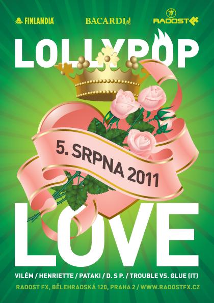 Párty Lollypop Love už dnes večer v Radost FX